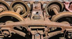 Stock Photo of rail wagon wheels