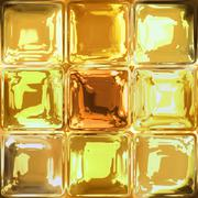 Yellow glass squares background or texture - stock illustration