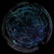 Global network internet technologies. Digital world map Stock Illustration