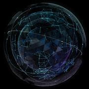 Global network internet technologies. Digital world map - stock illustration