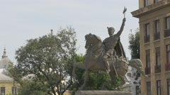 Michael the Brave staute in Bucharest Stock Footage