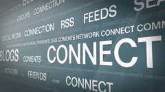 Social media networking_connection backgorund 4K Stock Footage