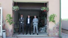Groom with friends - stock footage