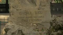 Spring of Sissi in Cismigiu Gardens, Bucharest Stock Footage