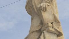 Ion Heliade Rădulescu statue detail in Bucharest Stock Footage