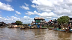 Hyperlapse of floating village Kompong Phluk Stock Footage