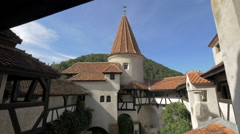 Architectural second floor plan of Bran Castle Stock Footage