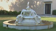 Fountain in a Garden Stock Footage