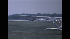 Vintage 16mm film, 1966, Air-show, Ford Tri-Motor Stock Footage