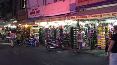 Shoe shops in Ben Thanh market Stock Footage