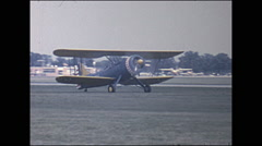 Vintage 16mm film, 1966, Air-show, b-roll taxi and flybys Stock Footage