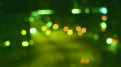 City night Traffic Ligths Bokeh  Stock Footage