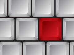 Part of computer keyboard without symbols - stock illustration