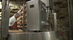 Cheesemaker At Work  Stock Footage