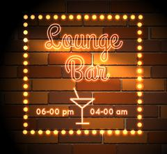 Stock Illustration of Lounge Bar neon Sight