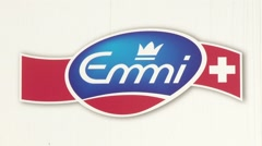Emmi Logo Zoom Out Stock Footage
