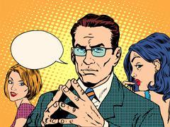 Psychology of men and women Stock Illustration
