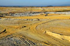 Mining quarry for kaolin in western Bohemia - stock photo
