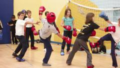 Physical and mental development of children - martial arts - stock footage