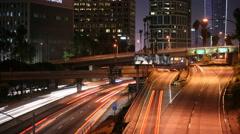 LA, California Epic Cityscape Night Traffic Timelapse 4K UHD Stock Footage