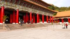Main Shrine, memorial complex in Taipei city, Martyr's Shrine Stock Footage