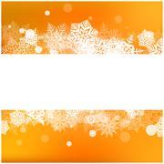 Christmas vector snowflake background for card. Snowfall illustration wallpap Stock Illustration