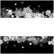 Stock Illustration of Christmas vector snowflake background for card. Snowfall illustration wallpap