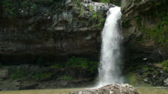 Waterfall in jungle of Selva Negra Stock Footage