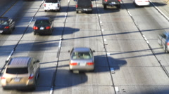 LA, California Busy Bumper to Bumper Traffic 4K UHD Stock Footage