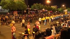 Parade on Chiangmai Yee Peng Festival 2015 (Loy Krathong). Stock Footage