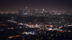 Los Angeles, California Cityscape Night Traffic Clouds Timelapse 4K UHD Stock Footage
