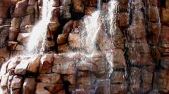 Las Vegas Waterfalls Oasis Fountains 4K UHD Stock Footage
