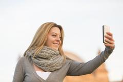 Making a selfie Stock Photos