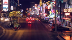 Las Vegas Boulevard Nevada Night Traffic Timelapse 4K UHD Arkistovideo