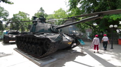 HO CHI MINH, VIETNAM - 2 MAY 2015: the War Remnants Museum in Saigon - stock footage