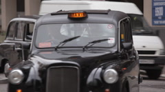 Lots of taxis in London Stock Footage