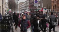 People in London Stock Footage