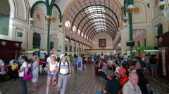 HO CHI MINH CITY, VIETNAM - MAY-02TH-2015: Saigon Central Post Office Stock Footage