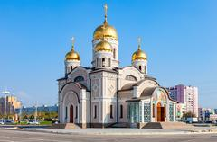 The temple in honor of the Annunciation in Samara, Russia - stock photo
