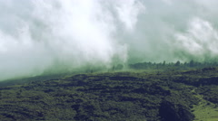 Maui, Hawaii Converging Clouds Over Lush Green Landscape Timealpse 4K UHD Stock Footage