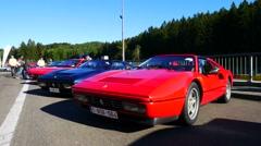 Ferrari 328 GTS sports car Stock Footage