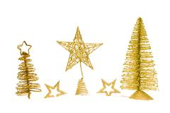 Stock Photo of fir-tree with star isolated on white background