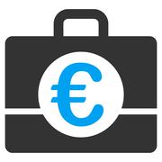 Euro Accounting Icon - stock illustration