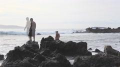 Maui, Hawaii Beach Fisherman Casting Nets 4K UHD Stock Footage