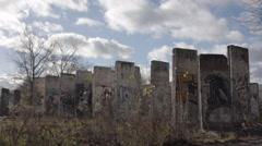 Abandoned Berlin Wall Teltow Stock Footage