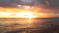 Maui, Hawaii Makena Beach Sunset and Clouds Timelapse 4K UHD Stock Footage