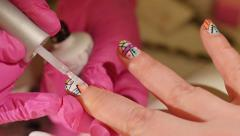 Nail Art Stock Footage