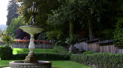 Fountain in the shade - stock footage
