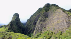 Maui, Hawaii Iao Needle in Iao Valley4K UHD Stock Footage