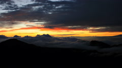 Maui, Hawaii Haleakala Mountain Clouds Sky Timelapse  4k UHD Stock Footage